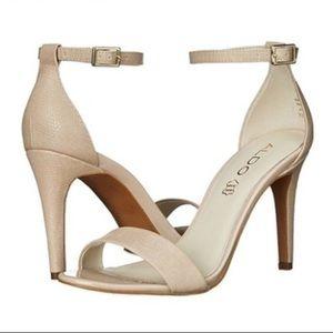Aldo 🎁 Ibenama Natural Ankle Strap Heels
